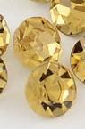 Камък кристал за вграждане кръг 3.8~4.0 мм цвят злато -100 броя