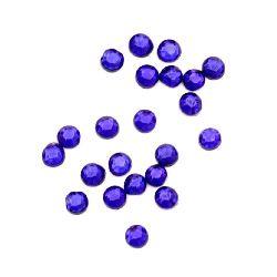 Στρόγγυλα θερμοκολλητικά στρας, γυάλινα 2 mm μπλε 2 γραμμάρια ~ 250 τεμάχια