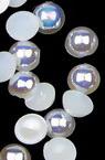 Perla emisferă 4x2 mm culoare alb curcubeu -250 bucăți