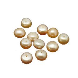 Natural pearl 5.5~6mm with hole 0.8mm grade AAA pink - 4 pieces