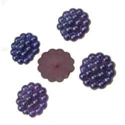 Dark violet Pearls for gluing 13 mm