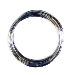 Jewellery Memory Wire 55 mm color silver -50 turns