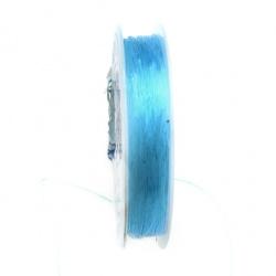 Силикон 0.6 мм син светло ~7 метра