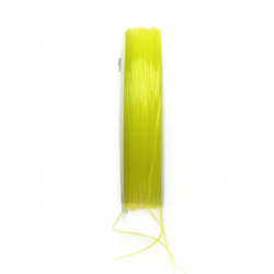 Elastic Fibre Wire, Dyed 0.6 mm yellow ~ 7 meters