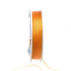 Elastic Fibre Wire, Dyed 0.6mm orange ~ 7m