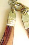 Necklace ribbon Organza 4 rows brown