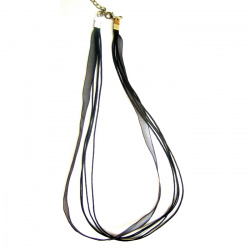 Necklace ribbon Organza  4 rows black