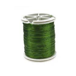 Тел медна 0.3 мм зелена светла ±50 метра