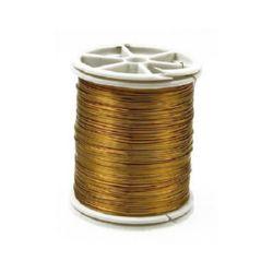 Jewelry Copper Wire 0.3mm gold ~ 50m