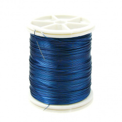Jewelry Copper Wire 0.3 mm blue ~ 50 meters