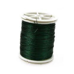 Тел медна 0.3 мм зелена ±50 метра