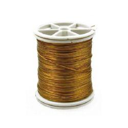 Σύρμα χαλκού 0,4 mm χρυσό ~ 26 μέτρα