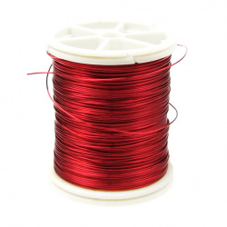 Copper wire 0.4 mm red dark ~ 26 meters