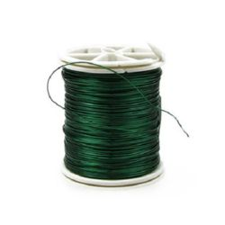 Copper wire 0.4 mm green ~ 26 meters