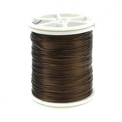 Copper wire 0.4 mm brown dark ~ 26 meters