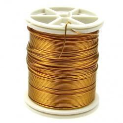 Тел медна 0.6 мм злато ~12 метра
