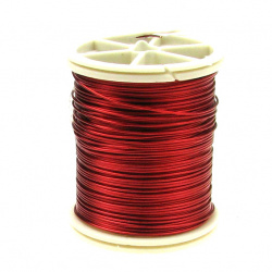 Red Jewellery copper wire  0.6 mm