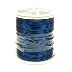 Blue Jewellery copper wire  0.6 mm
