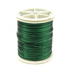 Тел медна 0.6 мм зелена ±12 метра