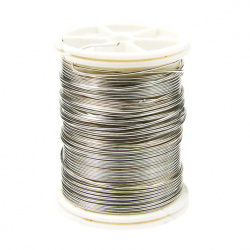 Jewellery Copper wire 0.8 mm silver ± 7 meters