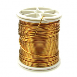Тел медна 0.8 мм злато ~7 метра