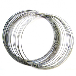 Wire for necklaces 110x0.6 mm color silver -50 turns ~ 50 grams