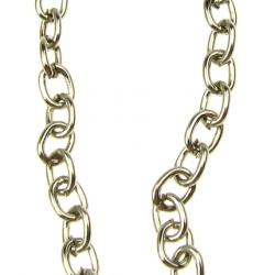Αλυσίδα, Ατσάλι 5x4x1 mm ασημί -1 μέτρο