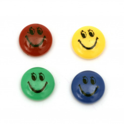 Magnet Smile 20 mm mixed colors - 12 pieces
