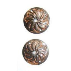 Cerc metalic cu brocart 26 mm culoare cupru