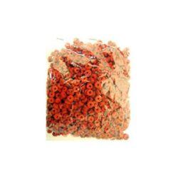 Шайба кожа 6x2 мм червена -12.5 грама ~300 броя