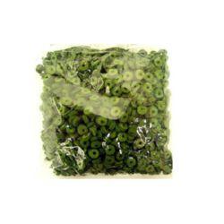 Шайба кожа 6x2 мм зелена -12.5 грама ~300 броя