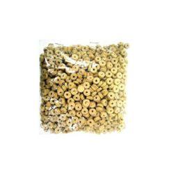 Шайба кожа 6x2 мм екрю -12.5 грама ~300 броя