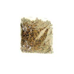 Шайба кожа 6x2 мм кафява -12.5 грама ~300 броя