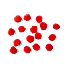 Помпони 13 мм червени -50 броя