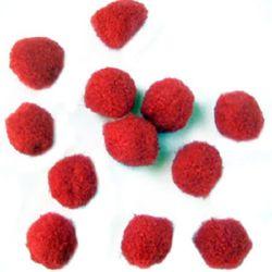 Pomponi  17 mm roșu -50 bucăți