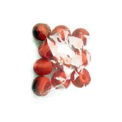 Топка облечена с копринена нишка 26 мм червена -12 броя