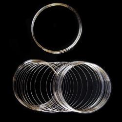 Sârmă pentru brățări 65x0,6 mm culoare argintiu -50 rotații ± 23 grame