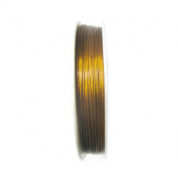 Steel Cord, Craft & Jewellery Making 0.45 mm color gold -100 m