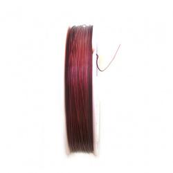 Cablu de oțel 0,45 mm, roșu