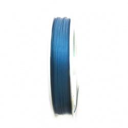 Cablu de oțel 0,45 mm albastru inchis