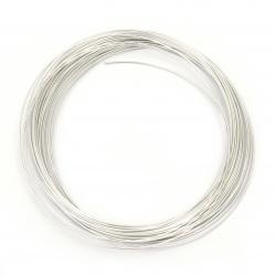 Тел алуминиева 0.8 мм цвят сребро светло ~10 метра