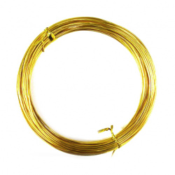 Aluminum wire 1 mm yellow -10 meters