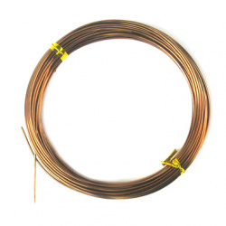 Aluminum wire 1 mm brown - 10 meters