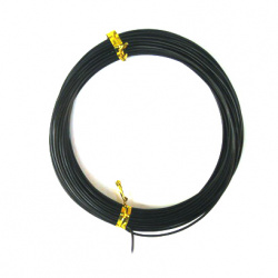 Aluminum wire 1 mm color black -10 meters