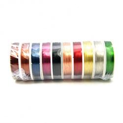 Sârmă de cupru 0,3 mm culori asortate ~ 20 metri