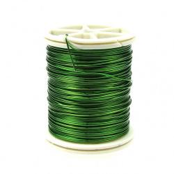 Тел медна 0.8 мм зелена светла ±7 метра