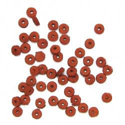 Шайба кожа 6x2 мм керемидена -12.5 грама ~300 броя