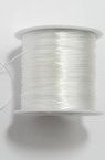 Silicone elastic 0.8 mm white ~ 45 meters