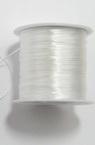 Ελαστικό κορδόνι σιλικόνης 0,8 mm λευκό ~ 45 μέτρα