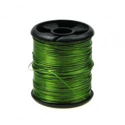 Тел медна 0.3 мм зелена светло ±9.5 метра